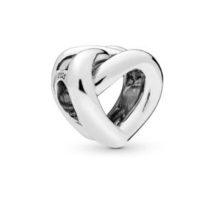 Pandora Knotted Heart Charm Silver New Collection